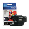Brother LC71BK (LC-71BK) Innobella Ink, 300 Page-Yield, Black
