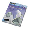Apollo Transparency Film for Laser Printers, Letter, Clear, 50/Box