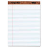 TOPS The Legal Pad Legal Rule Perforated Pads, Letter Size, White, 50 Sht Pads, 12/Pk