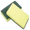 AbilityOne 7920015664130 Cellulose Scrubber Sponge, 3 1/4 x 6 1/4, Yellow/Green, 3/Pack