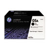 CE505D (HP 05A) Toner Cartridge, 2300 Page-Yield, Black,2/Pack