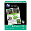 HP Office Recycled Paper, 92 Brightness, 20lb, 8-1/2 x 11, White, 5000 Shts/Ctn