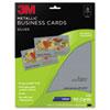 3M Inkjet Metallic Business Cards, 2 x 3 1/2, Silver, 50/PK