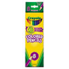 Crayola Colored Woodcase Pencils, 3.3 mm, BLK/BE/BN/GN/OE/RD/VT/YW, 8/Set