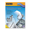 Apollo Laser Copier Transparency Film, Removable Sensing Stripe, Ltr, Clear, 100/Box