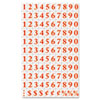 Interchangeable Magnetic Characters, Numbers, Red, 3/4&quot;h