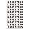 Interchangeable Magnetic Characters, Numbers, Black, 3/4&quot;h