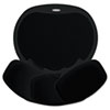 Easy Glide Gel Mouse Pad w/Wrist Rest, 10 x 12, Black/Black