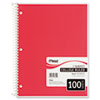 "Spiral Bound Notebook, College Rule, 8"" x 10-1/2"", White, 100 Sheets/Pad"