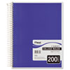 Mead Spiral Bound Notebook, Perforated, College Rule, 8 1/2 x 11, White, 200 Sheets