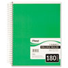 Spiral Bound Notebook, College Rule, 8 x 10-1/2, White,Twin wire, 180 Sheets/Pad