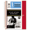 Five Star Wirebound Notebook, College Rule, 5 x 7, Perforated, Poly Cover, 100 sheets