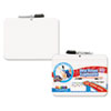 Double-Sided Dry Erase Lap Board with Marker, 12 x 9, White