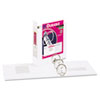 "Durable View Binder with Slant Rings, 11 x 8-1/2, 3"" Capacity, White"