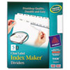 Index Maker Clear Label Dividers, 5-Tab, Letter, White, 5 Sets/Pack