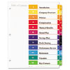 Avery Ready Index Contemporary Contents Divider, 1-12, Multicolor, Letter, 6 Sets