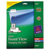 Print/Write-On Hanging Tabs, 1/5 Tab, 2 1/16 Inch, White, 90/Pack