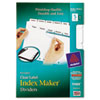 Avery Index Maker Dividers, White 5-Tab, Letter