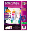 Avery Ready Index Customizable Table of Contents, Asst Dividers, 15-Tab, Ltr, 6 Sets