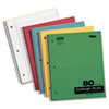 Kraft Subject Notebook, College Rule, 9 x 11, White, 80 Sheets