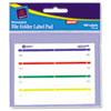 Avery Label Pads, 2/3 x 3 7/16, Assorted, 160/Pack