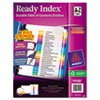 Avery Ready Index Customizable Table of Contents Multicolor Dividers, 26-Tab, Letter