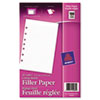 Avery Mini Binder Filler Paper, 5-1/2 x 8-1/2, 7-Hole Punch, College Rule, 100 Sheets