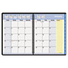 QuickNotes Recycled Monthly Planner, 6-7/8 x 8-3/4, Black, 2013