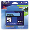 Brother P-Touch TZe Standard Adhesive Laminated Labeling Tape, 3/4w, Black on Blue