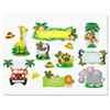 Carson-Dellosa Publishing 110152 Jungle Safari Bulletin Board Set, Various Animals, Assorted Colors CDP110152 CDP 110152