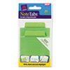 Avery NoteTabs-Notes, Tabs and Flags, Cool Green/Cool Green, Three Inch, 20/Pack