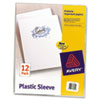 Avery Clear Polypropylene Plastic Sleeves, Letter, 12/Pack