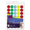 "See-Through Removable Color Dots, 3/4"" dia, Assorted Colors, 1015/Pack"