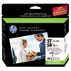 HP 57/58 Series Ink Cartridge/Paper Photo Value Pack w/100 Glossy 4 x 6 Sheets