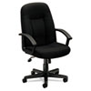 basyx VL601 Series Executive High-Back Swivel/Tilt Chair, Black Fabric & Frame