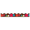 "Bordette Decorative Border, Dots, 2 1/4"" x 25' Roll, Assorted Colors"
