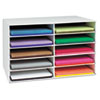 Pacon Classroom Construction Paper Storage, 10 Slots, 26 7/8 x 16 7/8 x 18 1/2