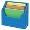 Folder Holder with Compartment Organizer, 12 1/2 x 9 x 5 5/8, Blue