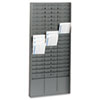 SteelMaster Steel Time Card Rack with Adjustable Dividers, Five Inch Pockets