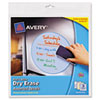 Peel & Stick Dry Erase Decals, Assorted Shapes/Colors, 10 x 10 Sheets, 3/Pack