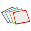 Peel & Stick Dry Erase Sheets, Border Sheets, 10 x 10, White/Asst., 4/Pack