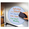 Peel & Stick Dry Erase Decals, Circles, 10 x 10 Sheets, Blue, 3/Pack