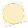 Peel & Stick Dry Erase Decals, Circles, 10 x 10 Sheets, Yellow, 3/Pack