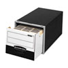 Super Stor/Drawer File Storage Box, Letter, Steel/Plastic, Black/White, 6/Carton