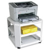 Mobile Printer Stand, 3-Shelf, 17-4/5w x 17-4/5d x 14-3/4h, Platinum