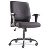 OIF Big and Tall Swivel/Tilt Mid-Back Chair, Height Adjustable T-Bar Arms, Black