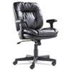 OIF Swivel/Tilt Leather Task Chair, Black