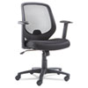 OIF Swivel/Tilt Mesh Mid-Back Chair, Height Adjustable T-Bar Arms, Black