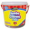 Crayons, Classic Colors, Resealable Bucket with Sharpener, 85/Set