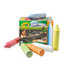 Crayola Giant Washable Sidewalk Chalk, Assorted Colors, 24/Box